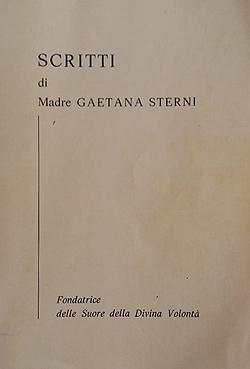 'Scritti' di Madre Gaetana Sterni